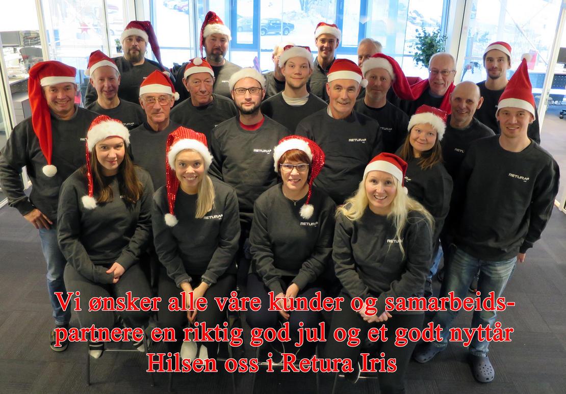 God jul og godt nyttår ønskes fra oss i Retura Iris