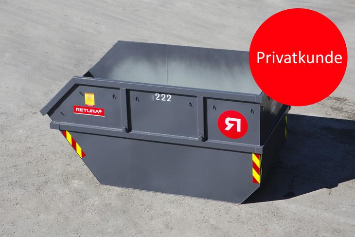 Container til avfall for privatkunder