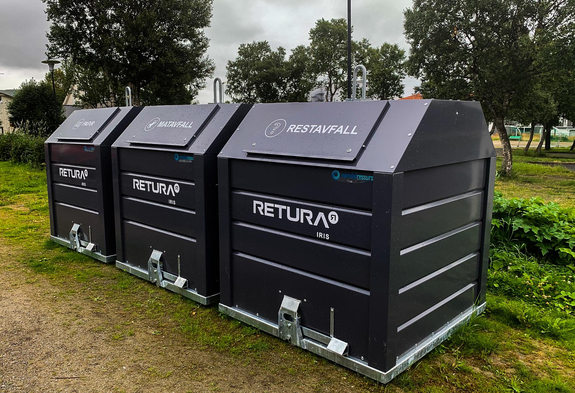 Bunntømt container fra Retura Iris