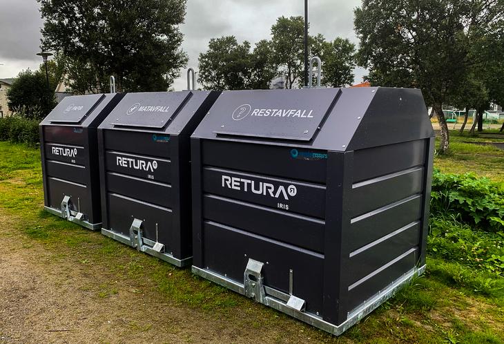 Avfallscontainere levert av Retura Iris