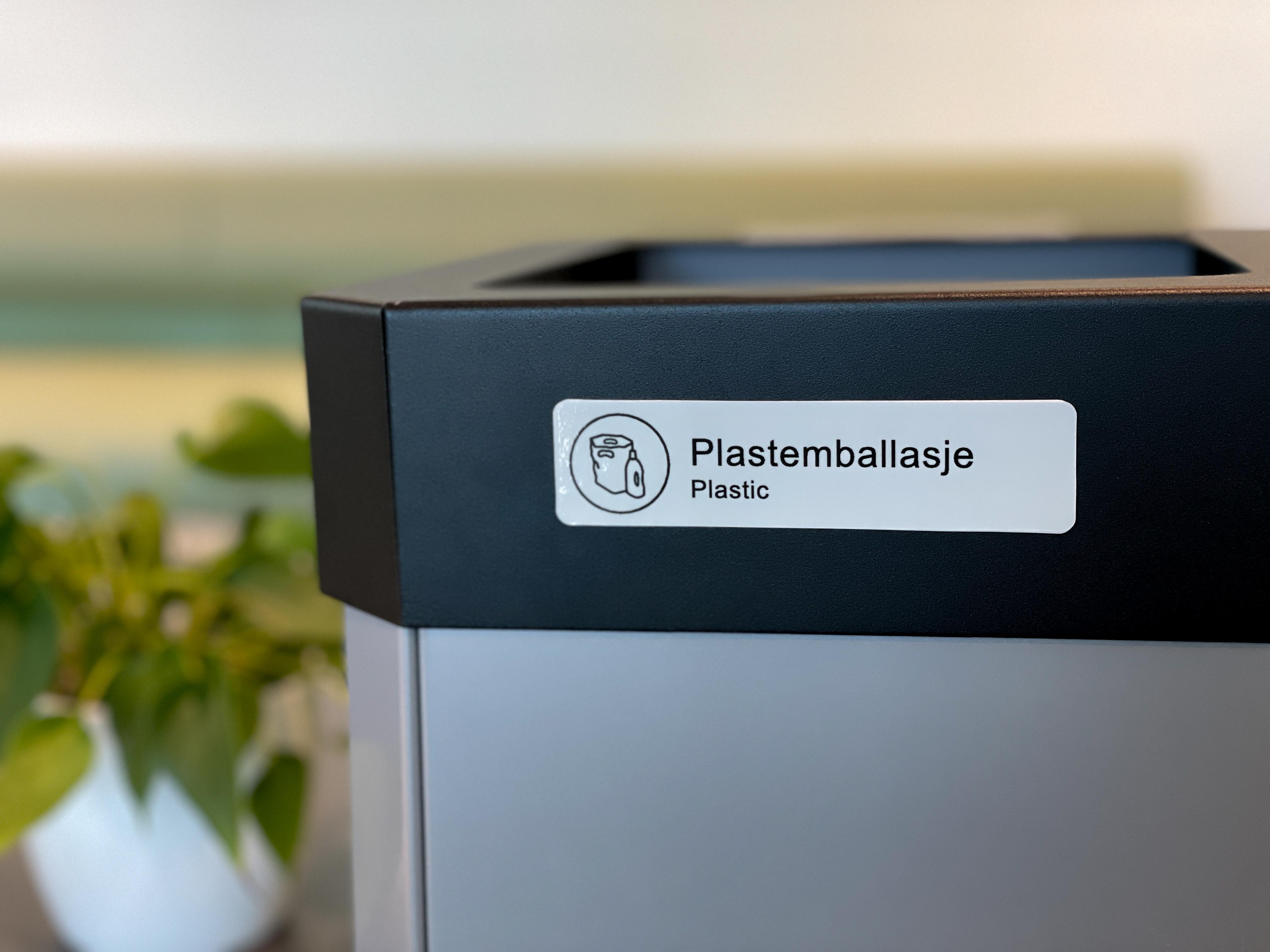 Merkelapp plastemballasje