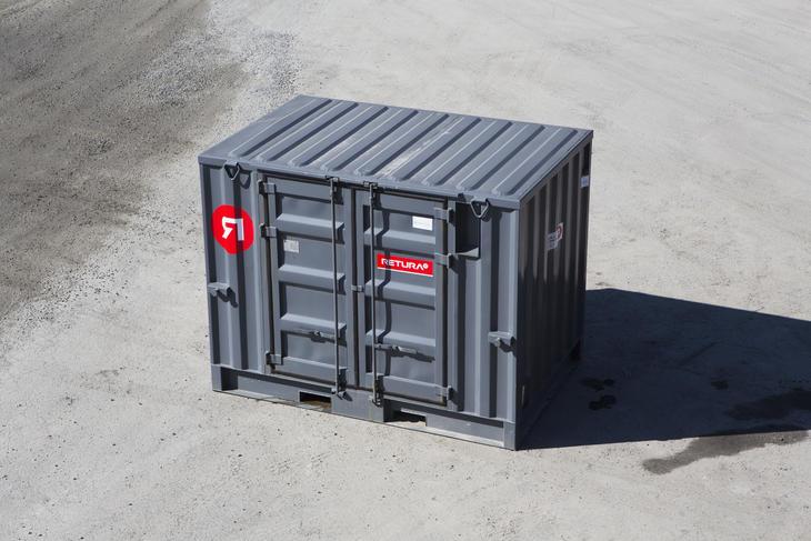 Miljøcontainer for lagring av miljøfarlige produkter