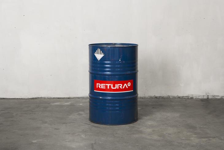 Spunsfat til oppbevaring av flytende farlig avfall