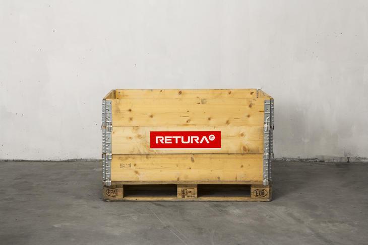 Pallekarm til lagring av avfall