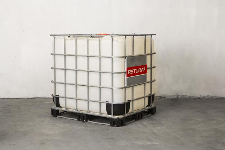 1000 L IBC-tank lagring/transport av flytende avfall