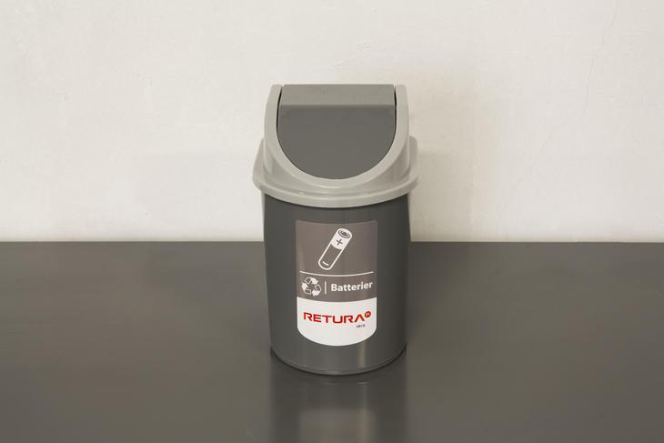 Batteriboks for trygg oppbevaring av brukte batterier