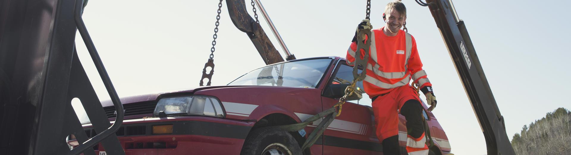Sikker festing av bilvrak